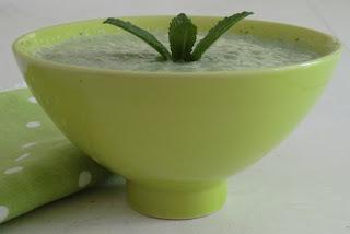 Gaspacho concombre-menthe sans lactose