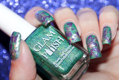 Splatter Nail Art with Glam Polish