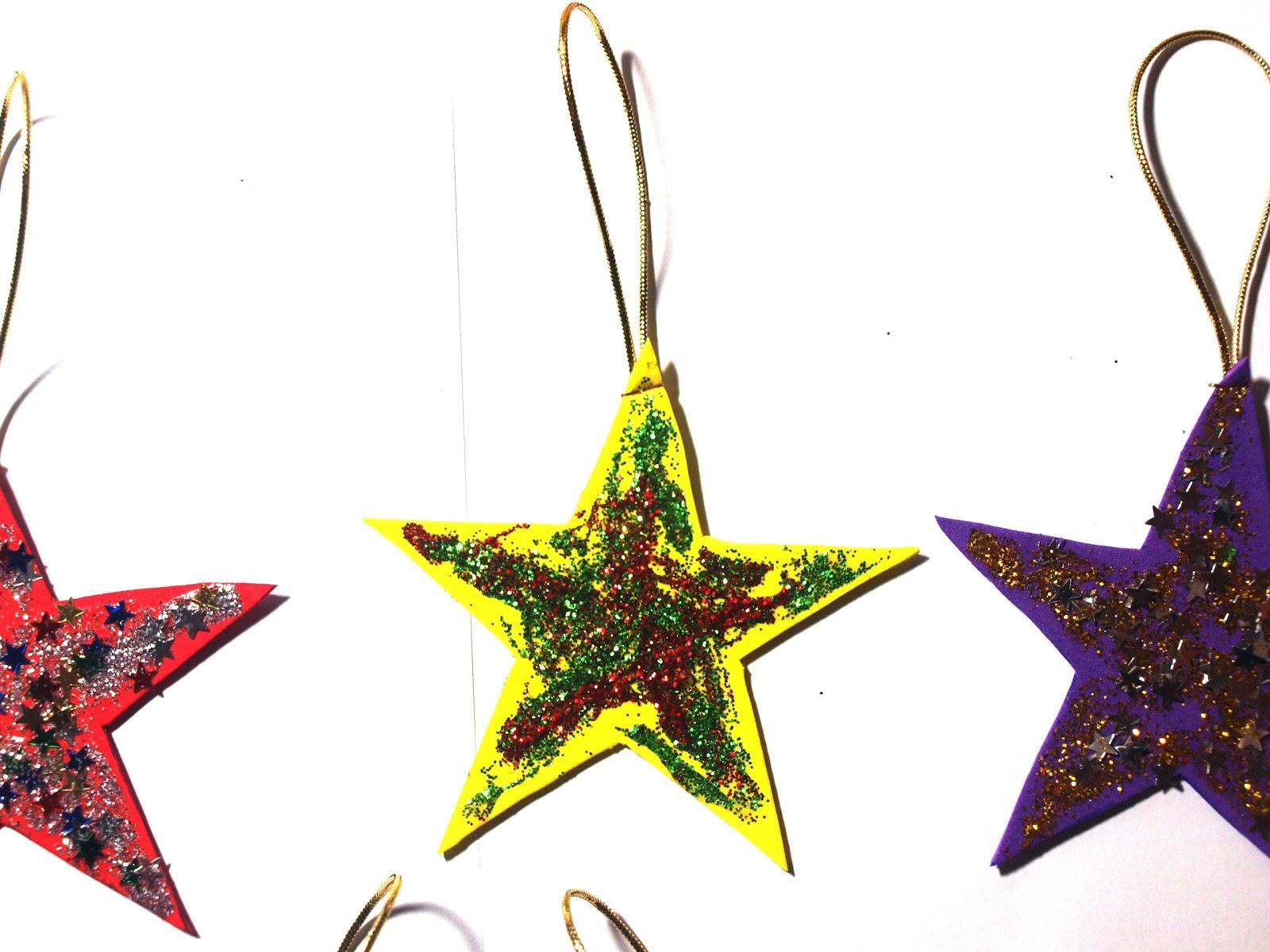Manualnavidades manualidades para navidad m s estrellas - Ideas para decorar estrellas de navidad ...
