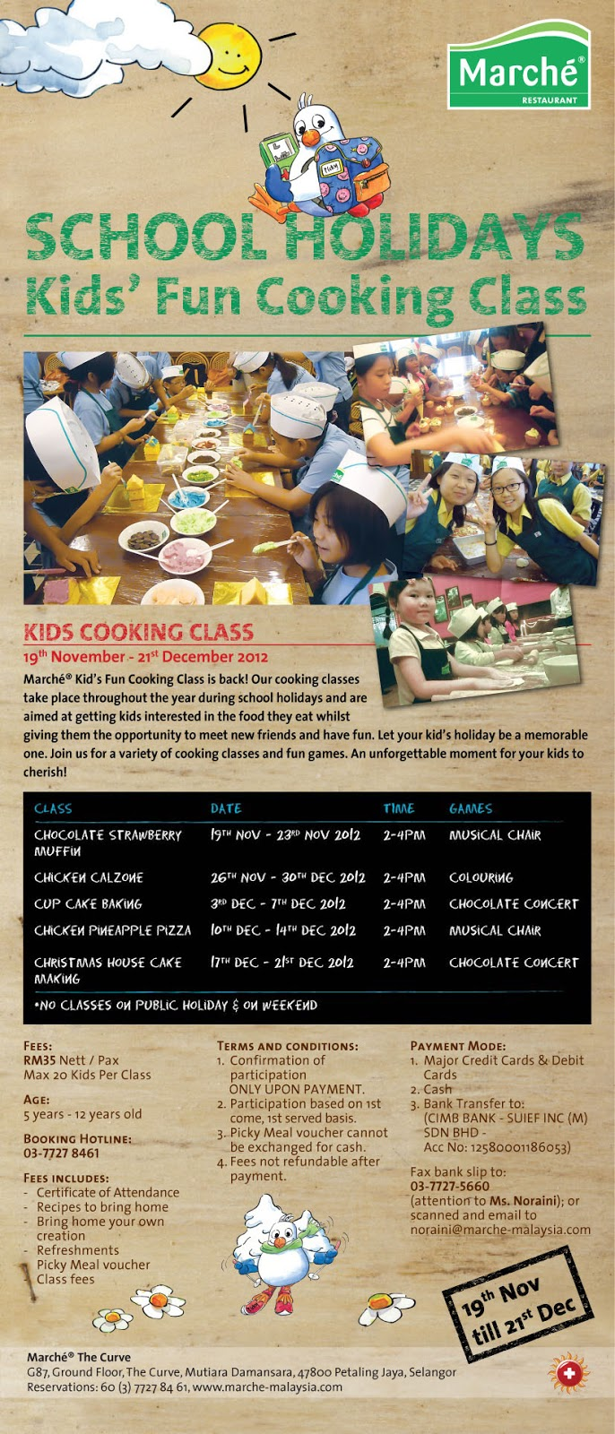 kid cooking class, cooking class, marche, along25