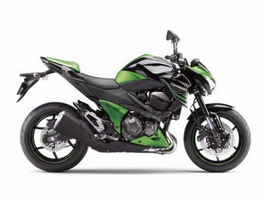 2014 Kawasaki Z800 Green