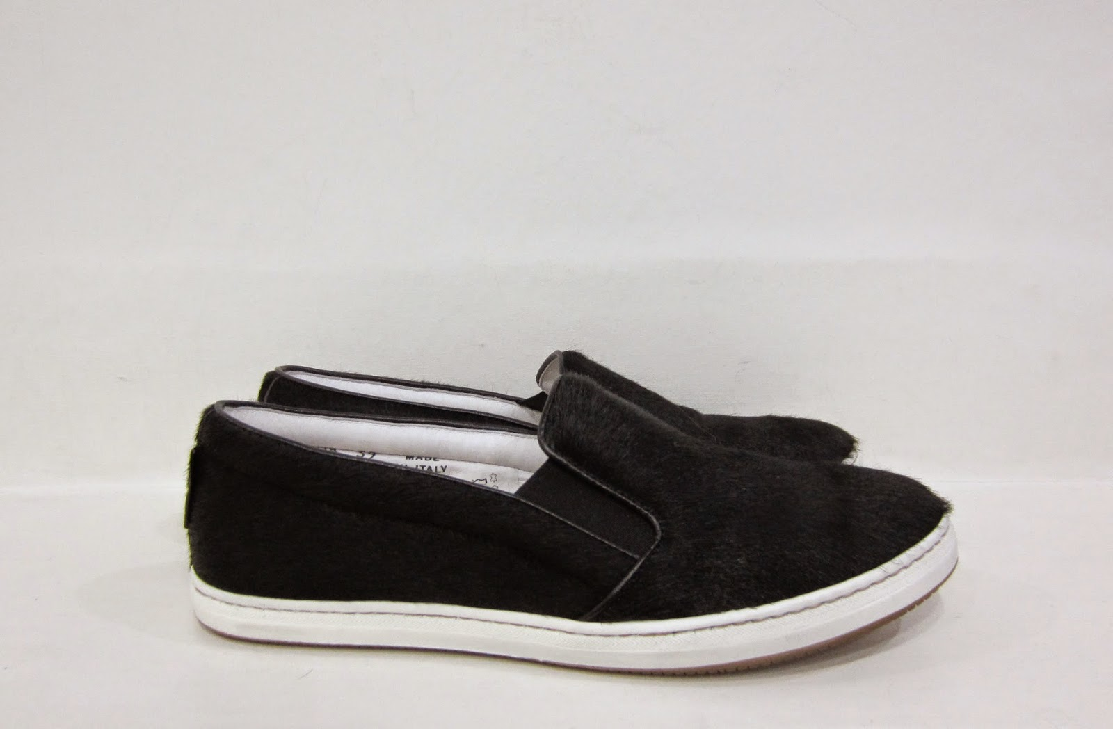 Russell & Bromley Black Pony Hair Sneakers