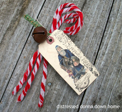 Candy canes, chenille stem, Christmas craft