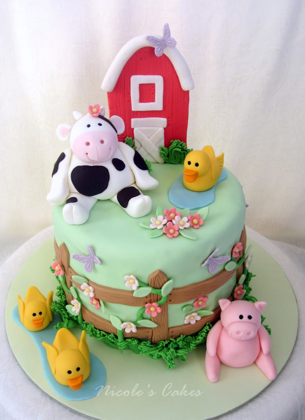 Cake Theme For Birthday : On Birthday Cakes: Farm Themed Baby Shower Cake!