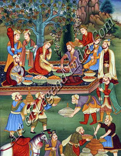 Babur Enjoying Feast at Herat