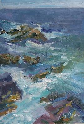 Monhegan Island surf painting