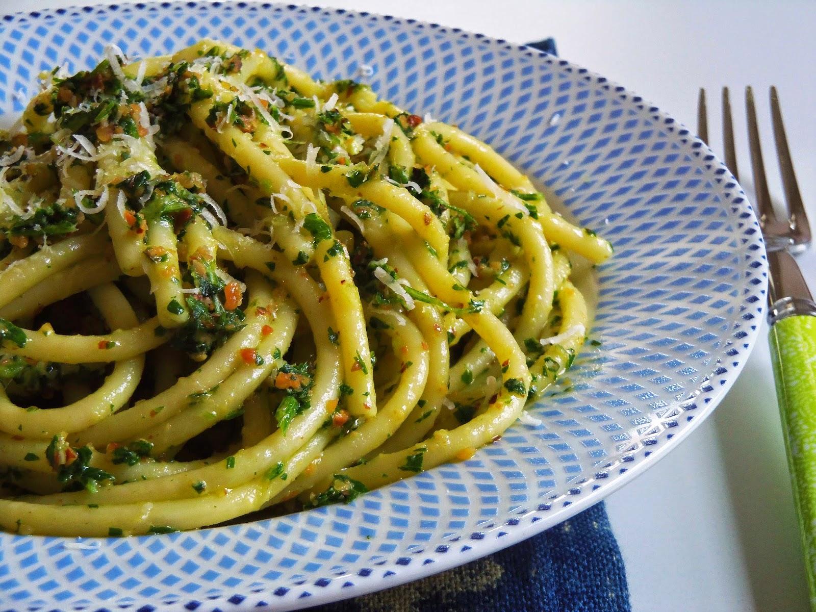 Simply Romanesco: Spaghetti with Parsley Pesto