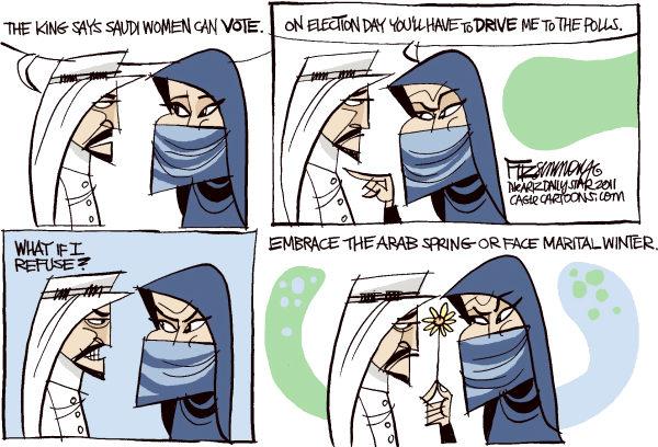 les tours de lalibert caricature arabie saoudite le vote des femmes. Black Bedroom Furniture Sets. Home Design Ideas