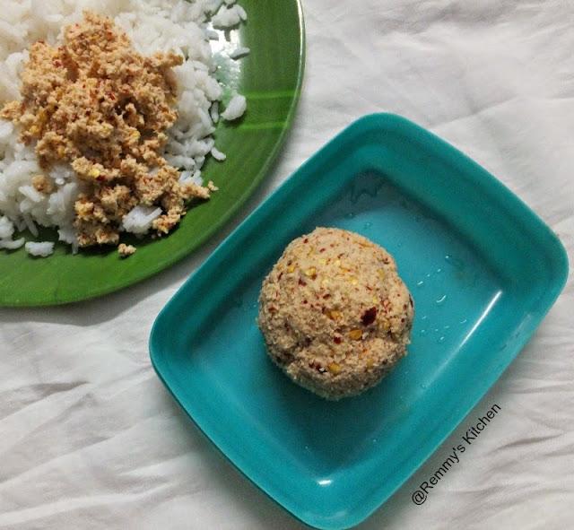 Manga chammanthi / raw mango dry chutney