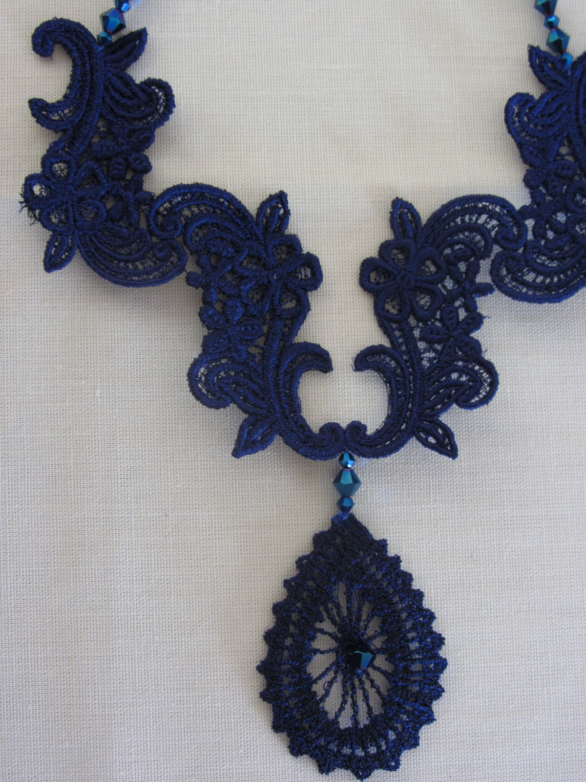 All Things Pretty Machine Embroidery Lace Jewelry