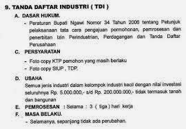 Prosedur Pengurusan Tanda Daftar Industri