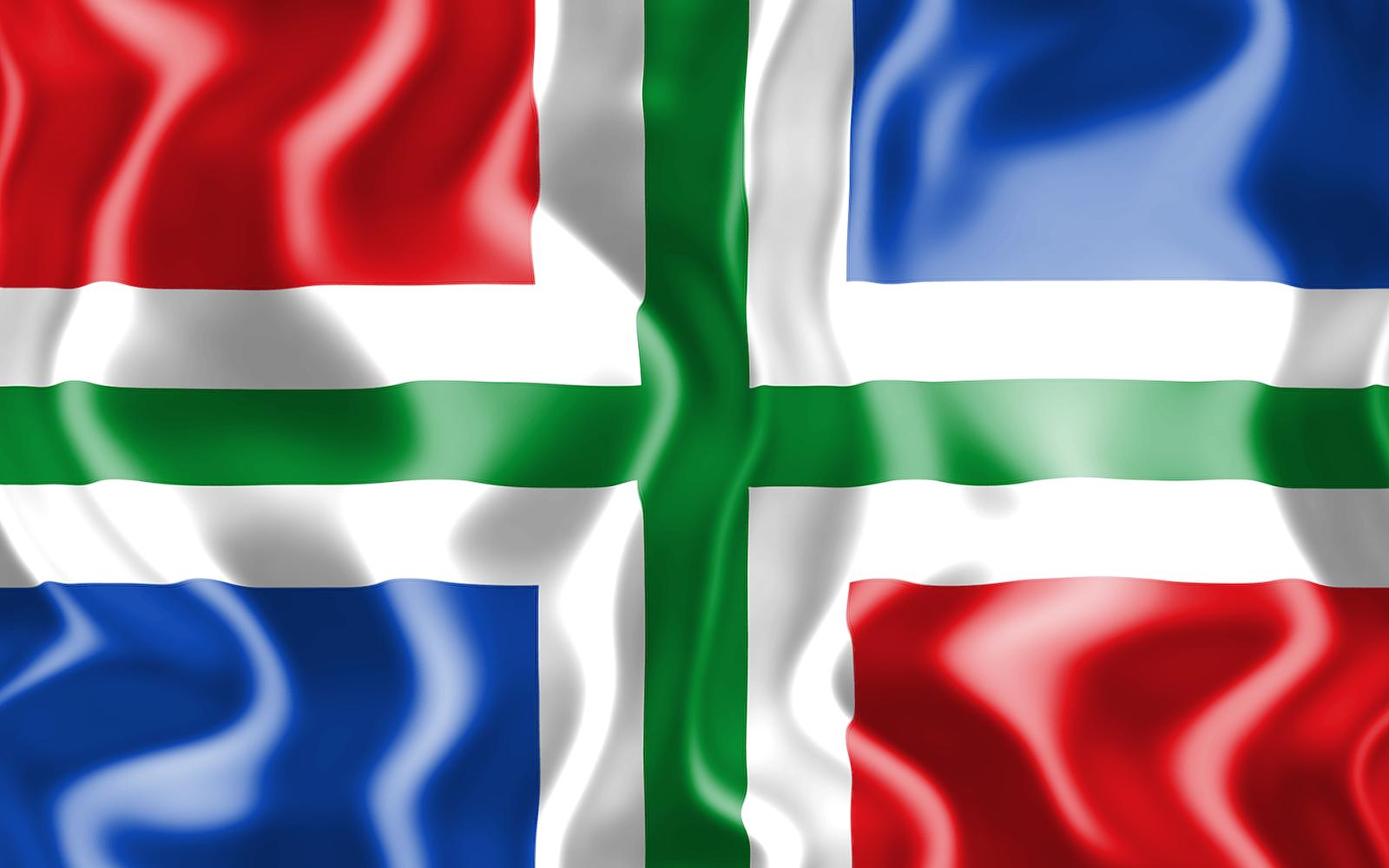 3D vlag van Groningen