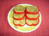Receta de tortilla de dos pimientos