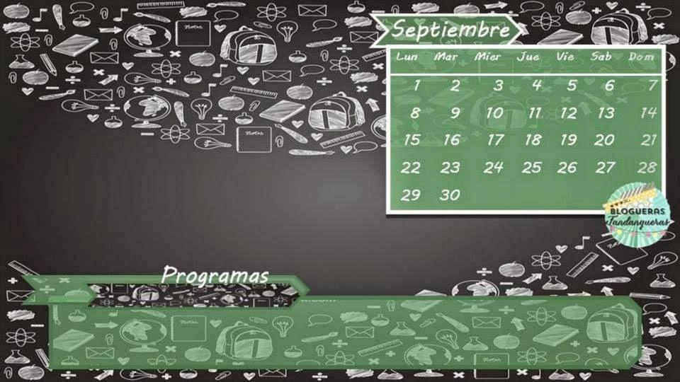 Fondo de escritorio con calendario de Septiembre