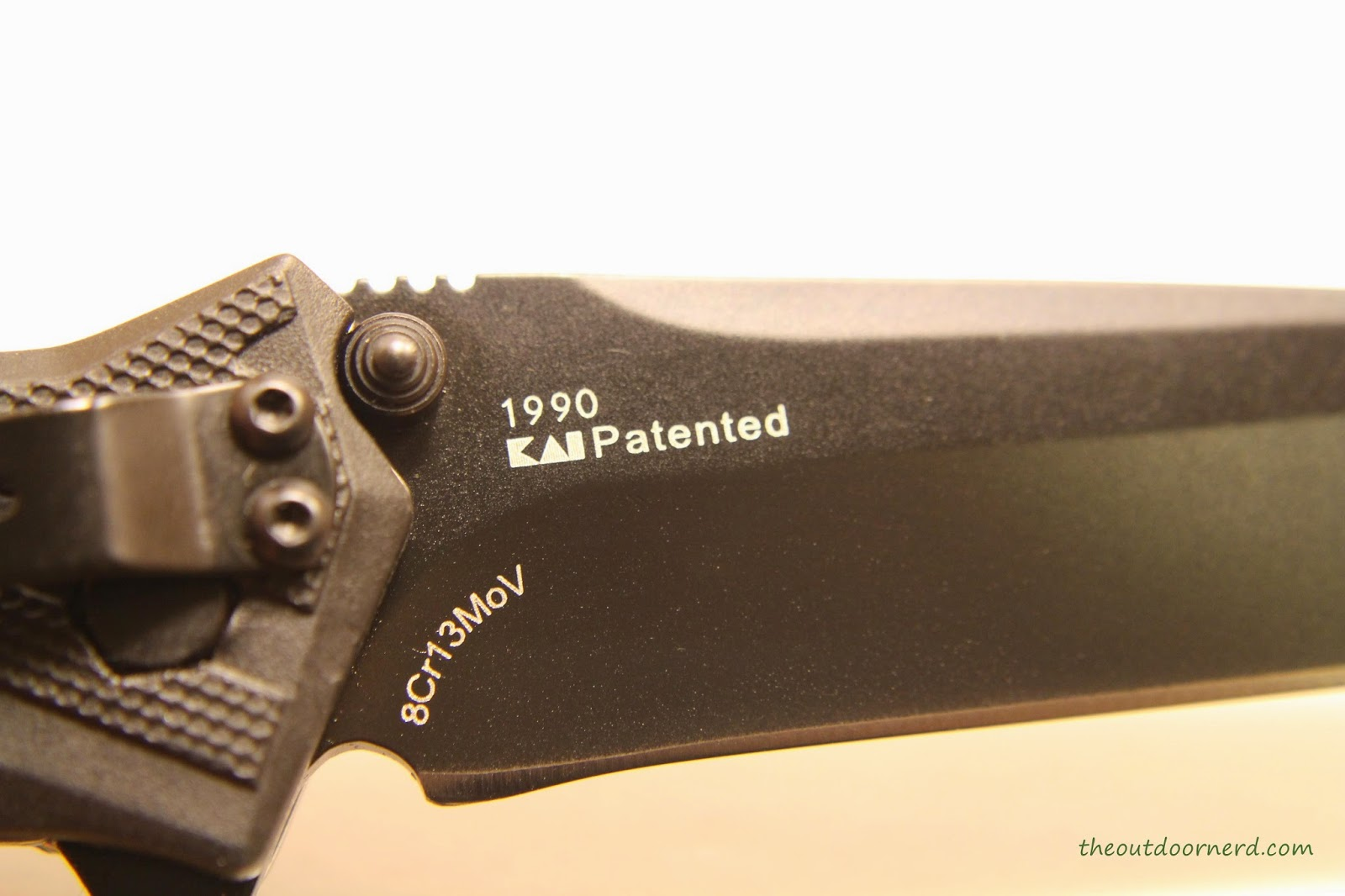 Kershaw Brawler Pocket Knife Close Up Of Kershaw Logo