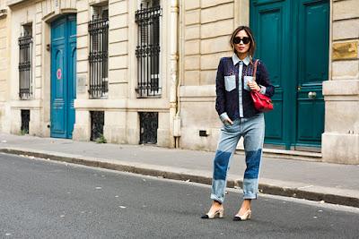 sapato chanel e jeans