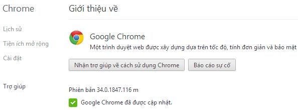 Fix lỗi Google Chrome phiên bản 34.0.1847.116 m tự động lưu mật khẩu