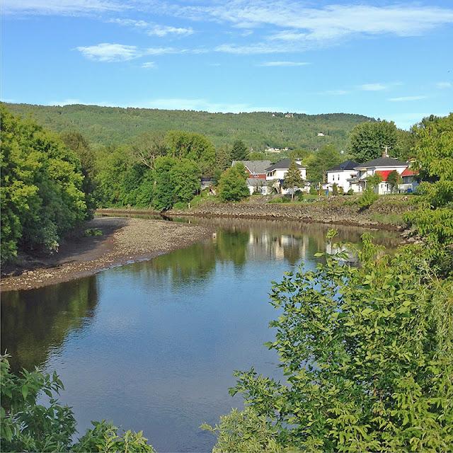 La rivière du Gouffre à Baie-Saint-Paul