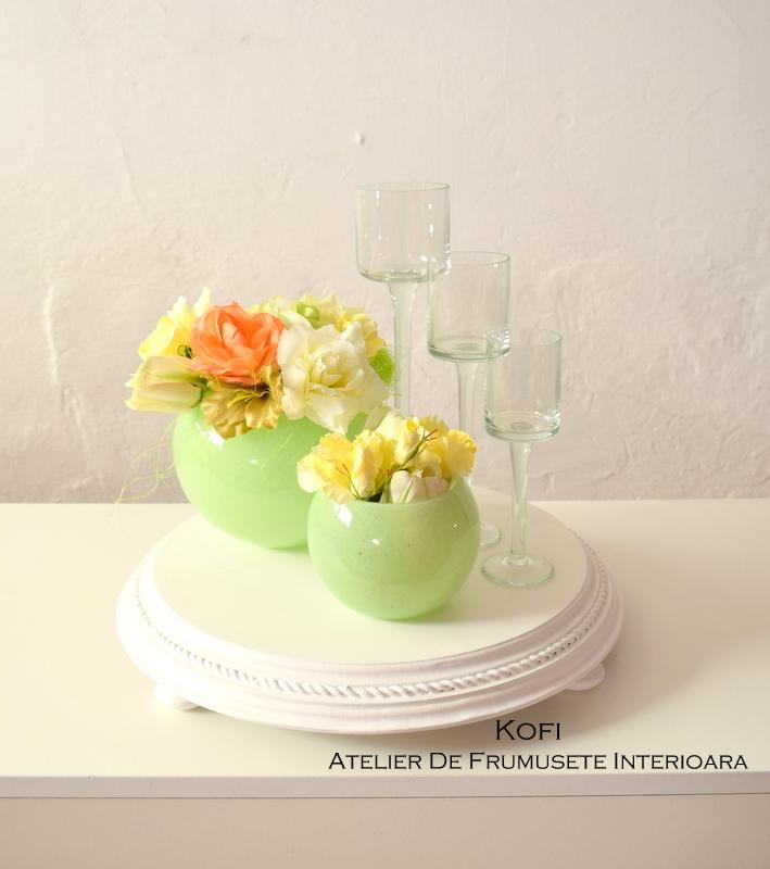 Accesorii candy bar - decoratiuni nunta - piedestal masa - Kofi