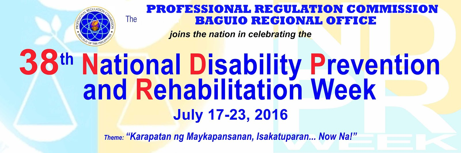 National Disability Prevention and Rehabilitation Week