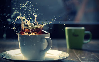 Table A Cup of Tea Splash Background HD Wallpaper