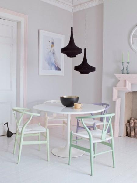 decoración mesas redondas comedor cocina
