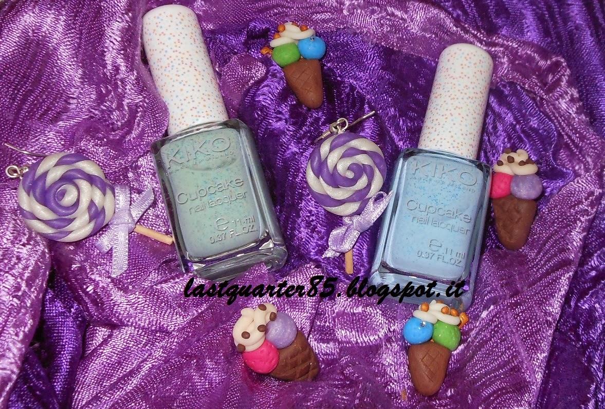 Kiko Cupcake Nail Lacquer in 655 Menta e 654 Anice.