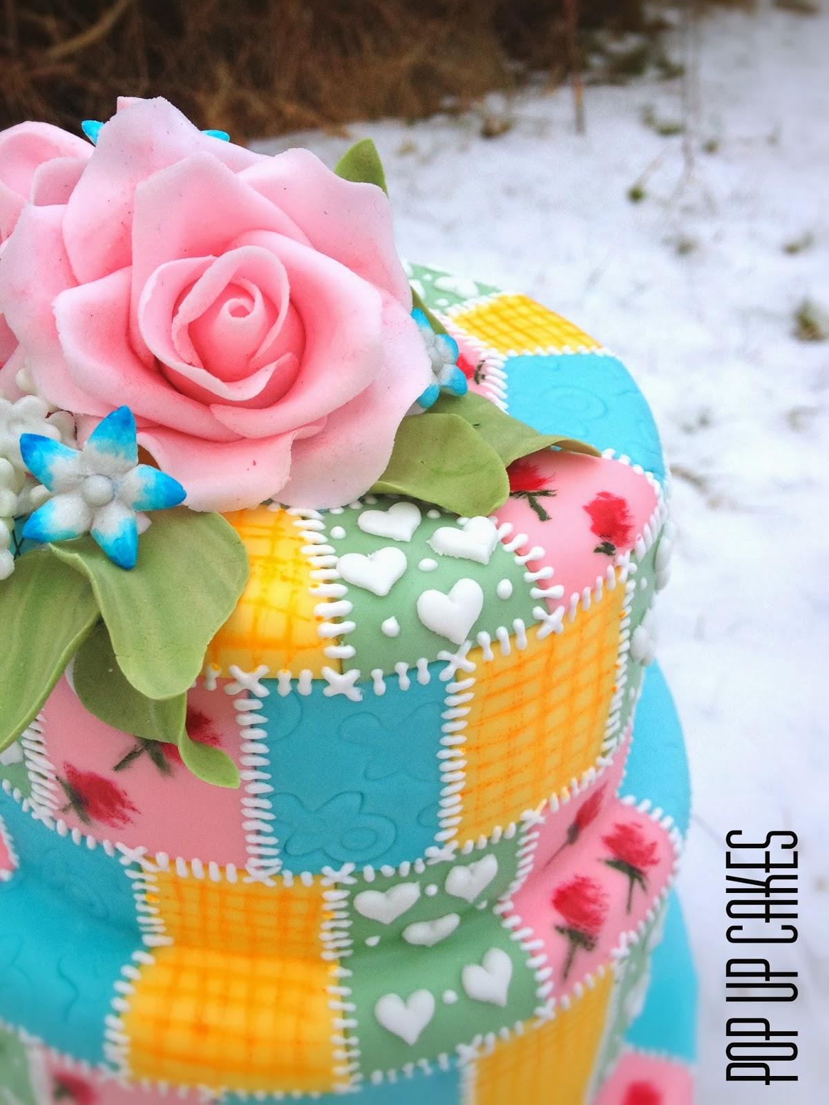 Pop up Cakes: Baby-Quilt Cake. : baby quilt cake - Adamdwight.com