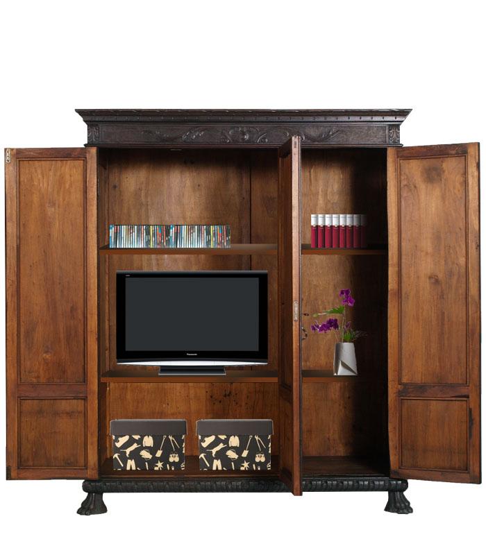 ... libreria porta tv Atelier myArtistic: ridare vita ai mobili depoca