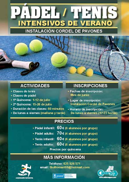 Cursos intensivos de verano pádel y tenis