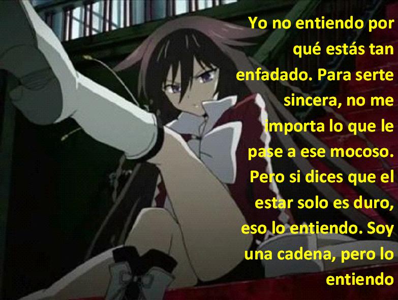 Frases con fotos del anime. ALICE