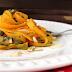Receita de Fettuccine de Cenoura ao Pesto de Rúcula
