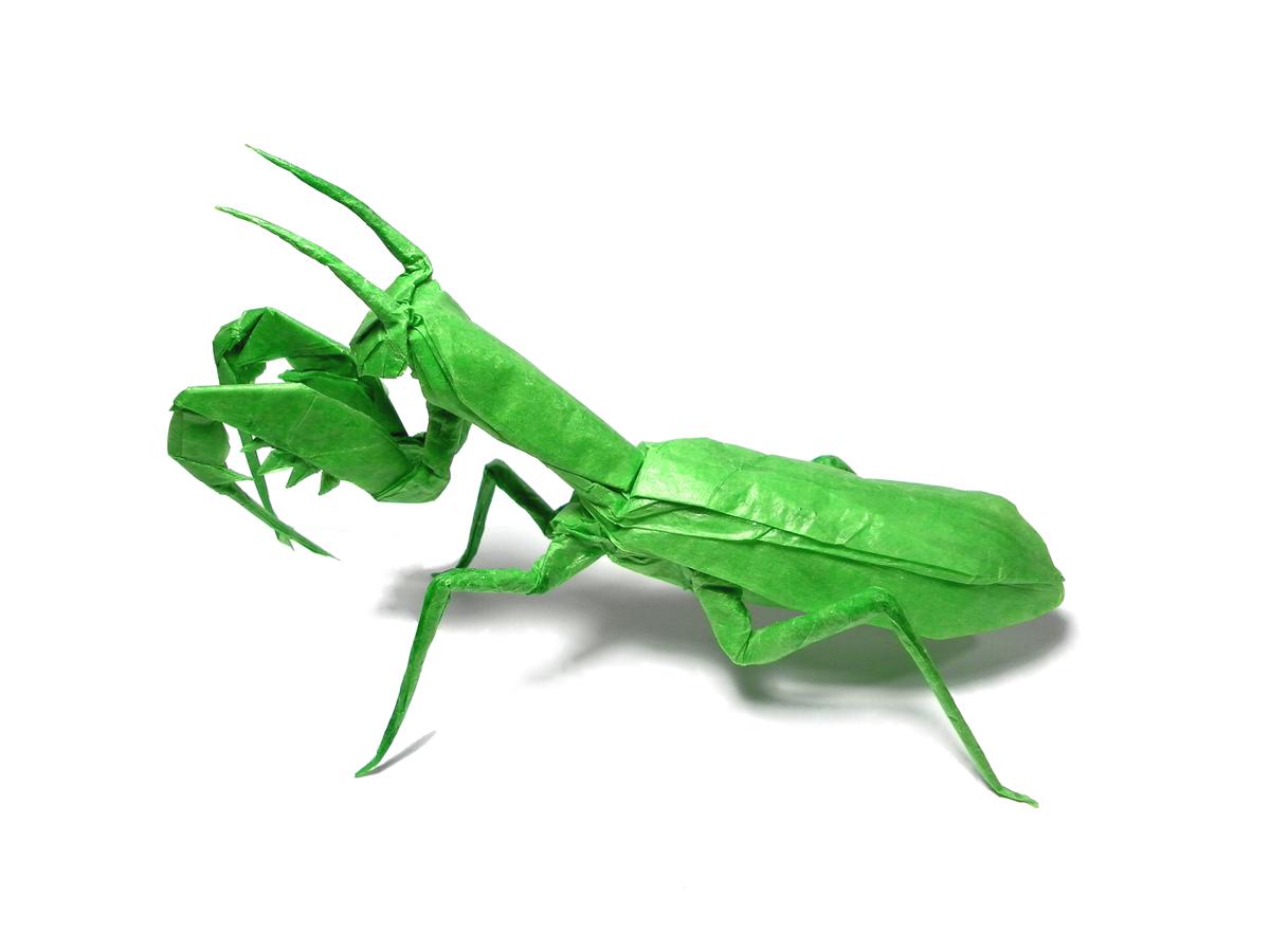 marianomi mundo el origami praying mantis