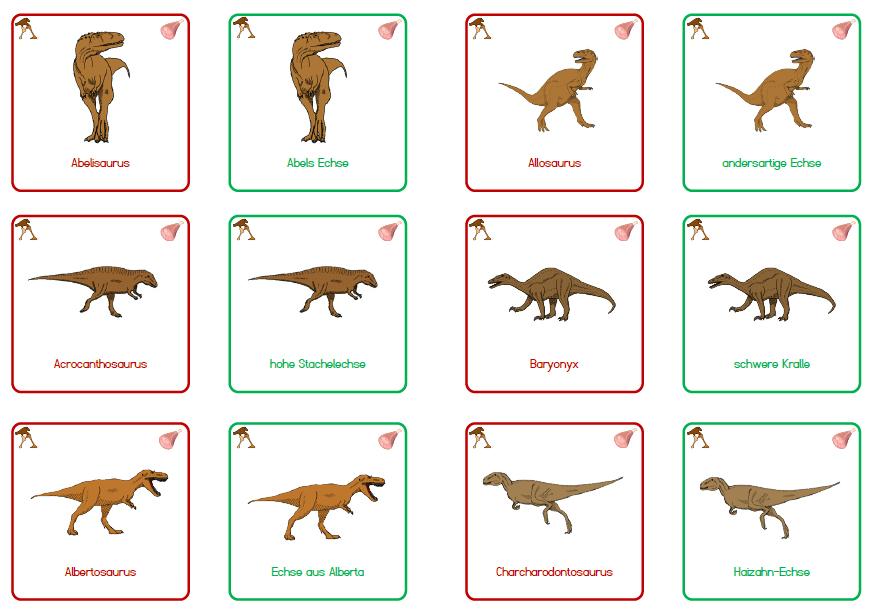 dinosaurier arten namen