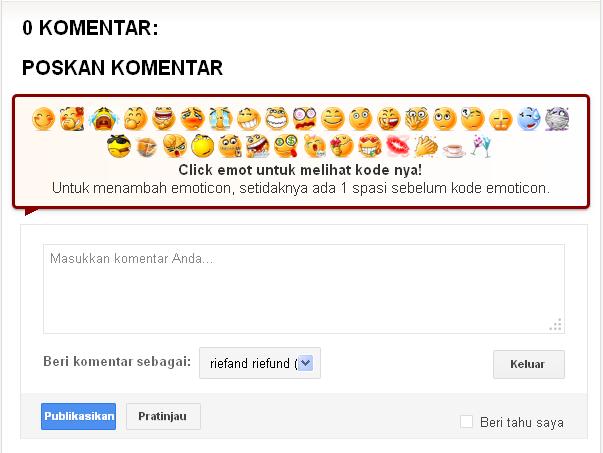 chèn biểu tượng cảm xúc vào blogger bình luận
