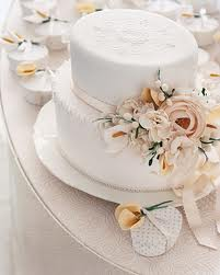 Martha Stewart Sugar Flower Wedding Cake