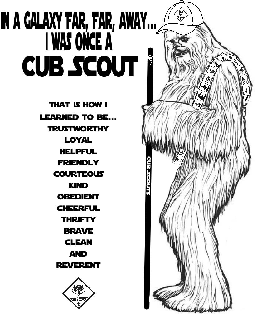 Cub Scout Coloring Pages Akela's Council Cub Scout Leader Training Chewbacca Was Once A