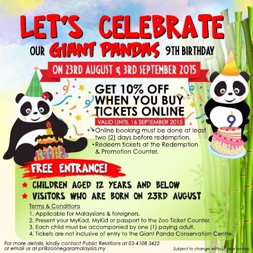 panda, birthday panda, zoo negara Malaysia