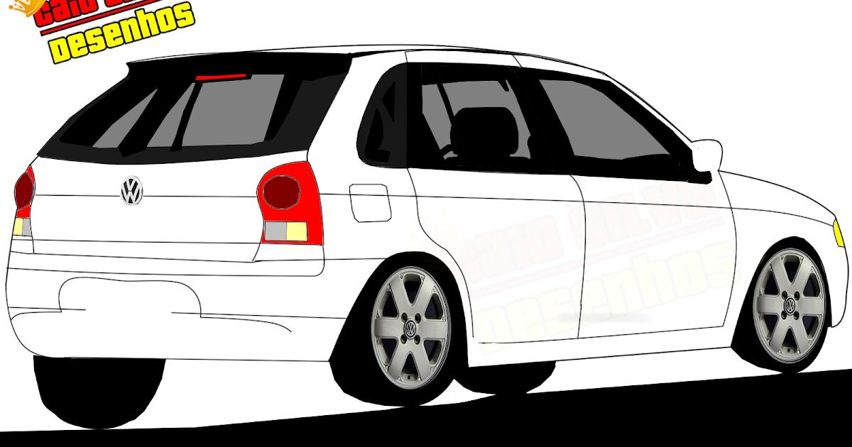 Crie Seu Carro Desenhos: VW Gol Trend 2013