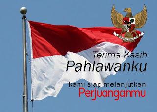 DP BBM Gambar Hari Pahlawan 10 November Bendera Merah Putih