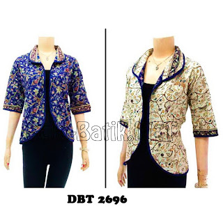 DBT2696 Model Baju Blouse Batik Modern Terbaru 2013