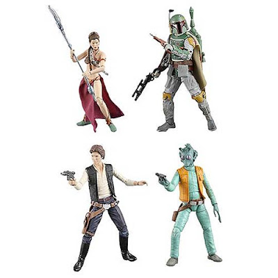 Star Wars Black Series Wave 2 6 Inch Action Figures - Slave Lea, Episode 1 Han Solo, Empire Strikes Back Boba Fett & Greedo
