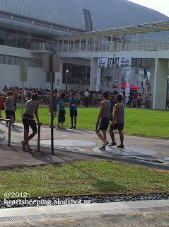 Republic Poly Run 2012, Starting point from far