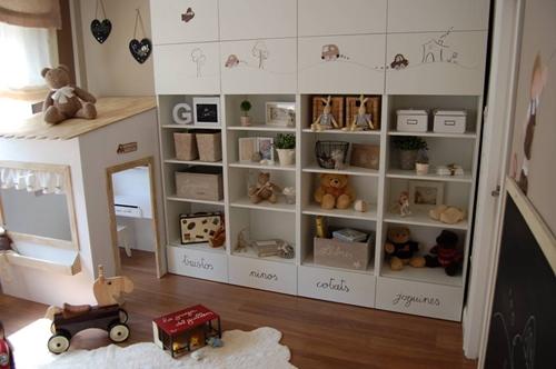 Mis mellizos y yo ideas para cuartos de juegos - Ikea estanterias ninos ...