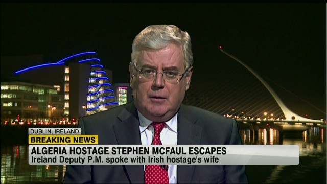 Eamon Gilmore discusses the Algerian hostage situation on Irish TV