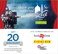 BookMyshow,fastticket,payumoney all offers