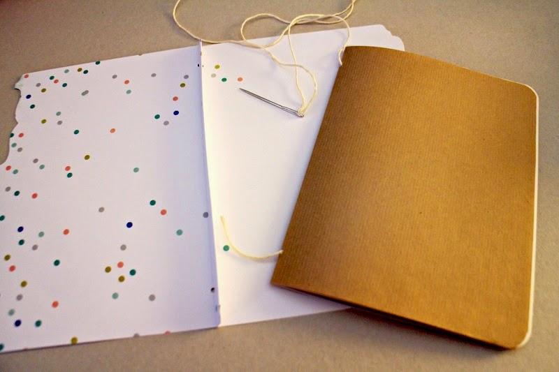 Einfache Buchbindetechnik zum DIY Sketchbook Tutorial aus Memory Files von Martina für www.danipeuss.de