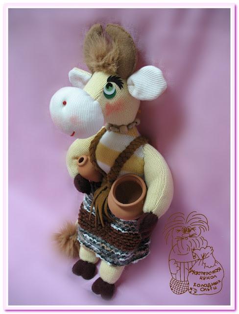 авторская игрушка Корова Зорька