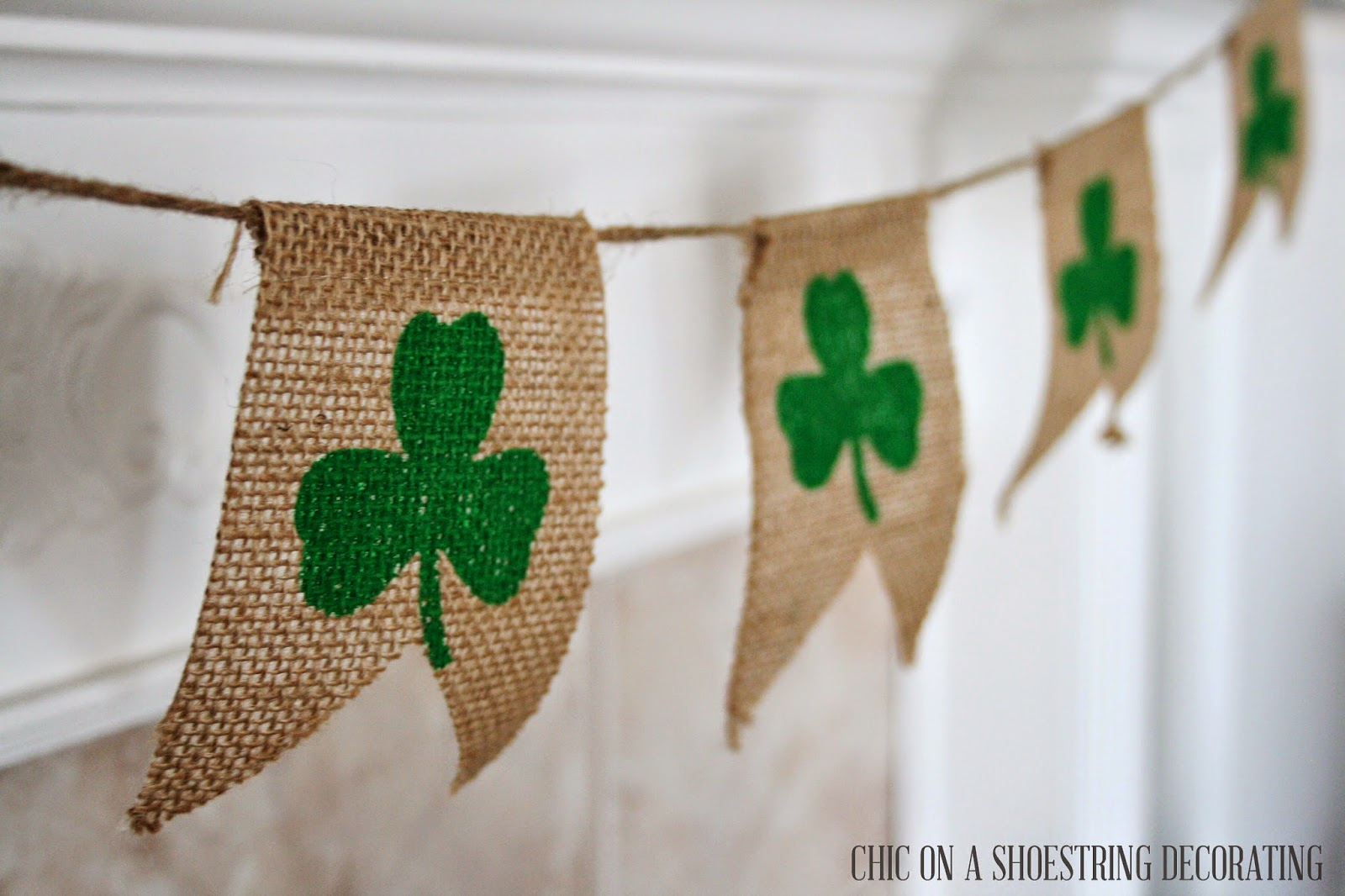 Chic on a shoestring decorating easy st patrick 39 s day decor for St patricks day decorations for the home