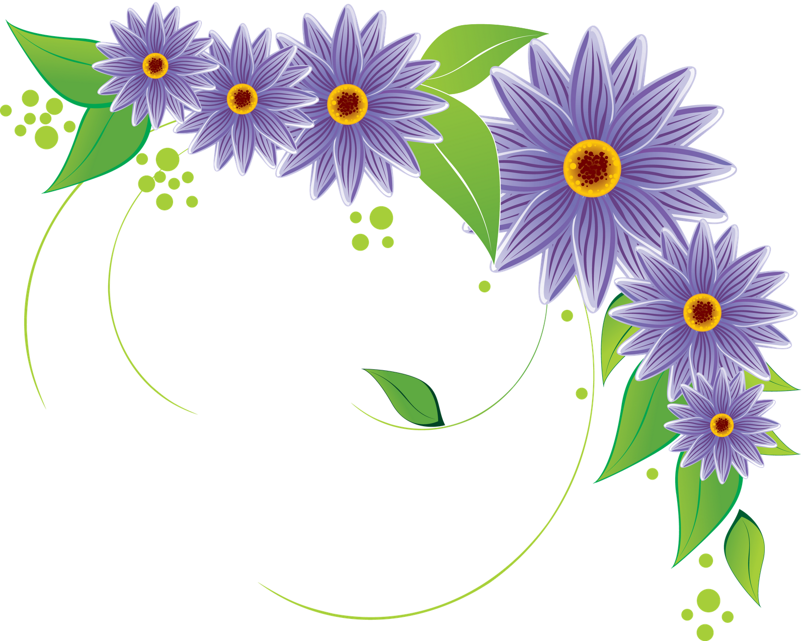 Frames & png: flower vectors various (12)